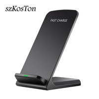 Qi Wireless Charger Fast Charging Stand For iPhone X XR XS Max 8 Plus Fast Wireless Charger Dock Station For Samsung S9 S8 S7|Mobile Phone Chargers|   -