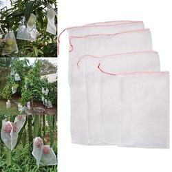 50Pcs Garden Plants Vegetable Fruit Protection Bag Anti Bird Drawstring Netting Mesh Bag for Agriculture Pest Control Tools