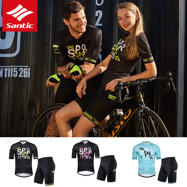 Santic Cycling Jersey Set 2019 New Pro Team Bike Jersey Set Summer Men Women Racing Cycling Set Bicycle Clothing Ropa Ciclismo