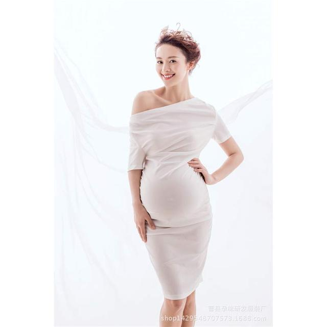 White Dress for Pregnant Women