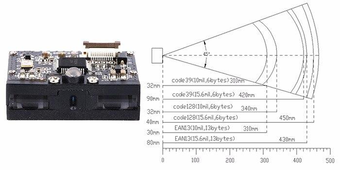 Супермаркет CCD штрих модуль проверки/сканирования штрих-кодов