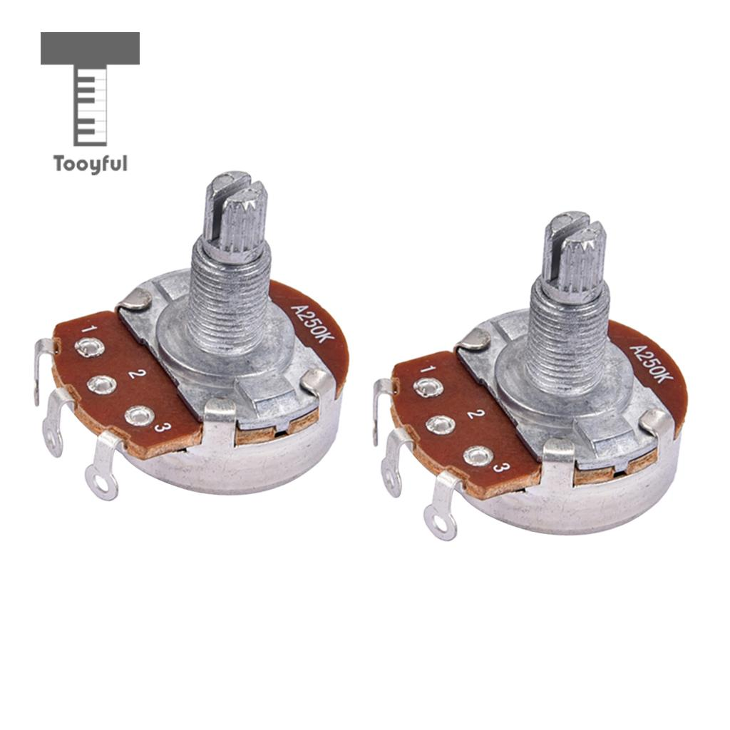 medium resolution of tooyful 2 pieces a250k taper potentiometer control guitar tone pots for electric guitars bass parts