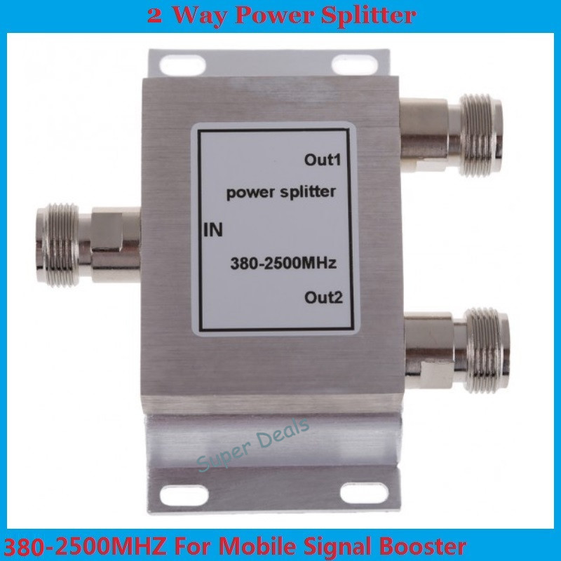 1PCS 380~2500MHz N 2-way RF Power Divider/Splitter For GSM & CDMA & DCS Cellphone Signal Booster Repeater
