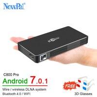 3D DLP проектор C800 Pro WI FI Мини проектор Android 7,0 Full HD дома Театр лучемет с 4100 мАч Батарея Airplay Miracast