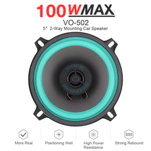 1pc 5 Inch 100W Car HiFi Coaxial Speaker Vehicle Door Auto Audio Music Stereo Full Range Frequency Speakers for Car Vehicle Auto