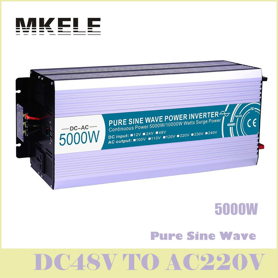 MKP5000-482 48vdc To 220vac Pure Sine Wave 5000w Voltage Converter Solar Inverter LED Display Inversor China Ultra Boost high quality mkp5000 481 pure sine wave solar inverter off grid 5000w 48v to 110v voltage converter led display inversor china