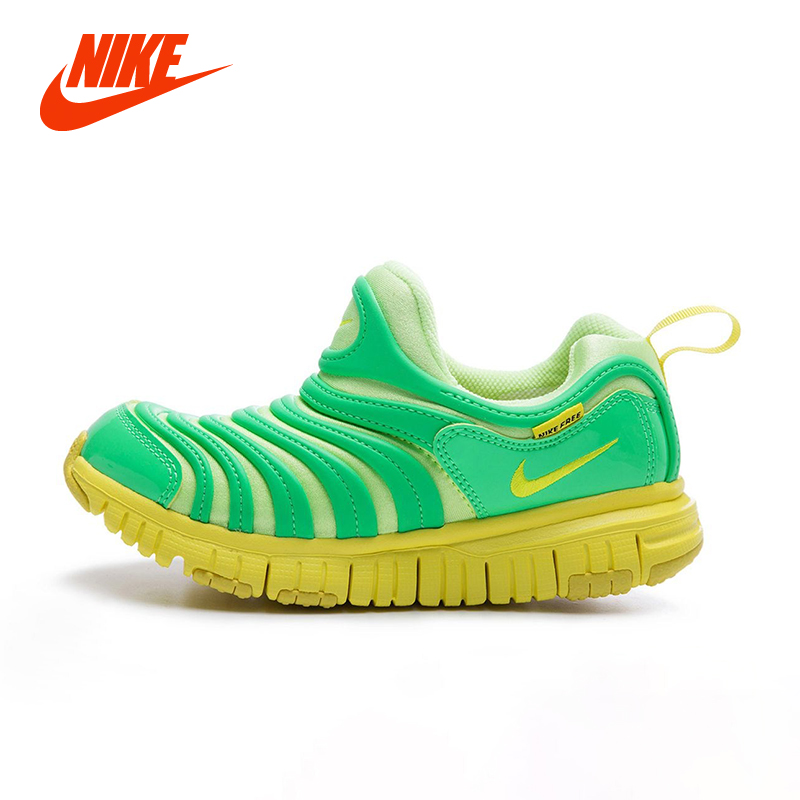 Original NIKE DYNAMO FREE Caterpillar Boy Kids Running Shoe Breathable Slip On Girls Sport Sneakers Children Casual Shoe kelme 2016 new children sport running shoes football boots synthetic leather broken nail kids skid wearable shoes breathable 49