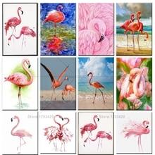 5D DIY Diamond Painting flamingos Diamond Embroidery Cross Stitch Floral Decoration dmc needlework mosaic Rhinestone стоимость