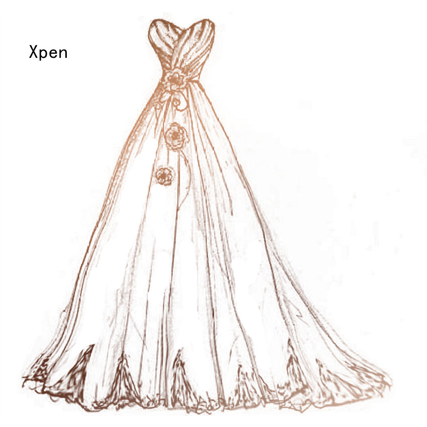 Flowers wedding dress metal cutting dies cutting practice hands-on DIY clip art album craft mold scrapbooking line art