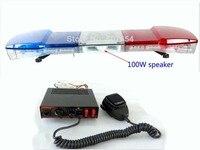 Higher star 120cm 56W Led police warning lightbar,ambulance emergency lights+100W speaker+100W police siren alarm,waterproof