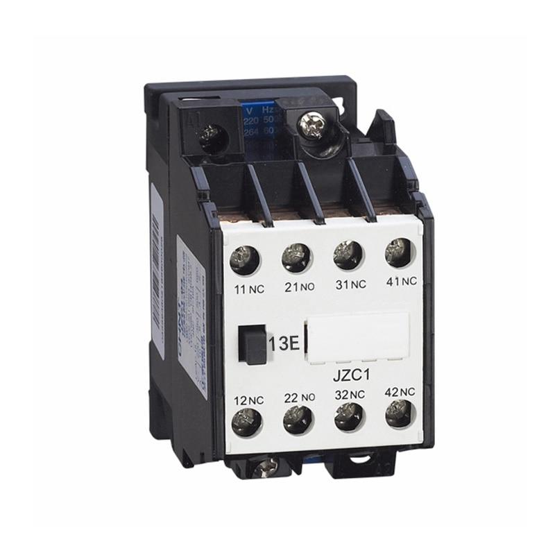 цена на AC Motor Contactor Relay Starter Ui 660V 3NC+1NO 4 Pole 24VAC 220V 380V 50Hz Coil Volt Ith 10A JZC1-13 DIN Rail Mount Contactor