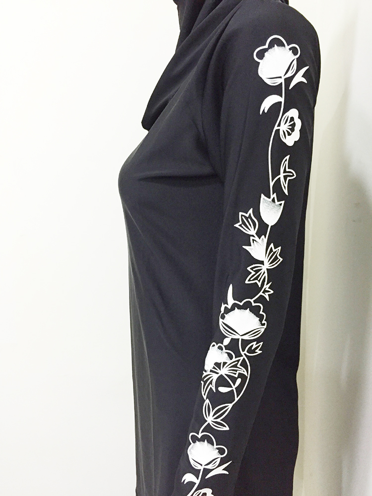 Women Plus Size Floral Muslim Swimwear Hijab  Islamic Swimsuit Swim Surf Wear Sport Burkinis S-6XL