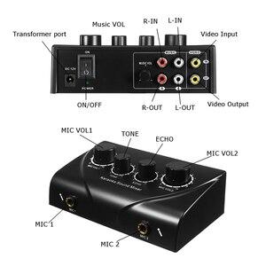 Image 4 - LEORY カラオケサウンドミキサープロオーディオシステムデュアルマイク入力ポータブルミニデジタルカラオケマシンミキサー家族 KTV