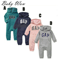 Babyprime Baby Long Hooded Romper Soft Casual Spring Autumn Newborn Boys Girls Zipper Jumpsuit With Hat High Quality tyh-40382