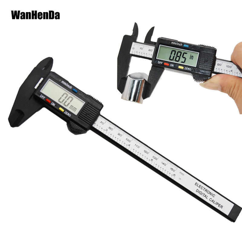 150MM 6inch Digital Electronic Vernier Caliper Carbon Fiber Gauge Micrometer New