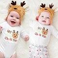 Criança One-Pieces 2016 ropa de bebe Do Bebê Menino Roupas de Menina Manga Comprida Macacão Outfits Sunsuit