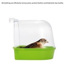 Cage Mounted Small Bird Parrot Budgie Pet Round Bath Basin Shower Bathtub Kit Parrot Bird Bathtub Parrot Bathing Supplies 1Pc