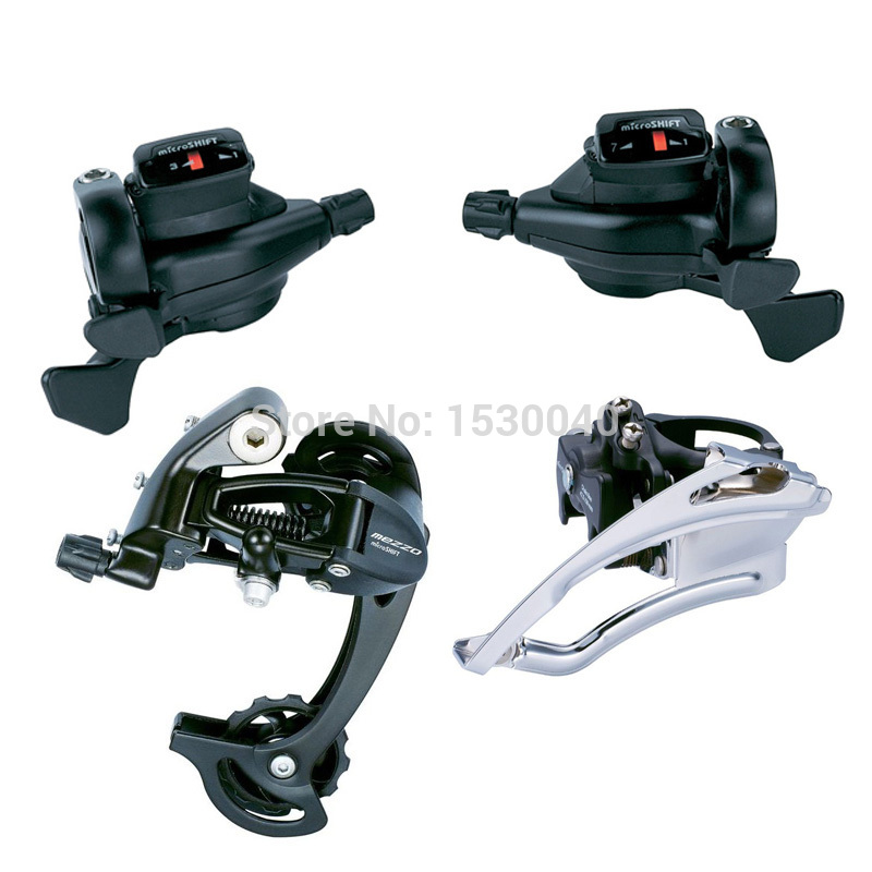 MicroSHIFT Triple 3X7/8/9 Speed 21/24/27 Bike Set MTB Bicycle Front Rear Derailleur Groupset Compatible For Shimano