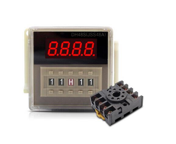 DH48S-2Z H5CN 0.01s-99H99M Digital Timer Relay On Delay 8 Pins SPDT 2 Groups Contacts Delay DC12V DC24V AC110V AC220V цена