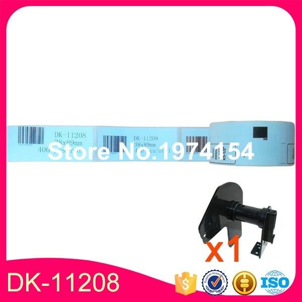 8 x Rolls Brother Compatible Labels DK 11208 labels size 38 x 90mm 400 labels per