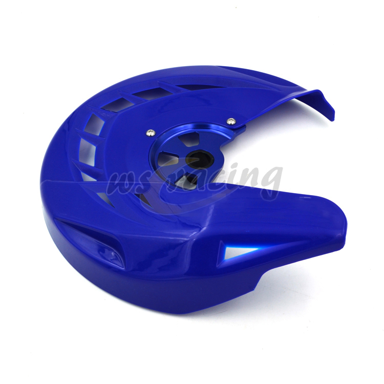 Motorcycle Front Brake Disc Rotor Guard Cover Protector For YZ125 YZ250 YZF250 YZF450 WRF250 WRF450 WR 250F 450F YZ 250F 450F front wave disc brake yz yzf wrf yz250 yzf250 yzf450 wrf250 wrf450 motocross enduro supermotard motocross motorcycle