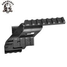 Universal Tactical AEG Pistola de Plástico Base de Polímero Quad Rail Picatinny Vista 17 iluminação Laser Scope Mount Para Glock 5.56 1911