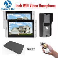 7 Inch LCD Monitor 700TVL IR Camera Wireless WiFi IP Video Doorphone 1V2 Video Intercom Doorbell
