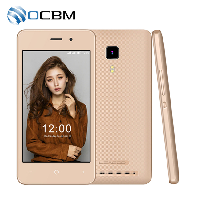 In Stock Original Leagoo Z1c Quad Core 1.3GHz 3.97''HD 800x480 Android 6.0 512MB RAM 8GB ROM 3.0MP 1400mAh 3G WCDMA Cell Phone