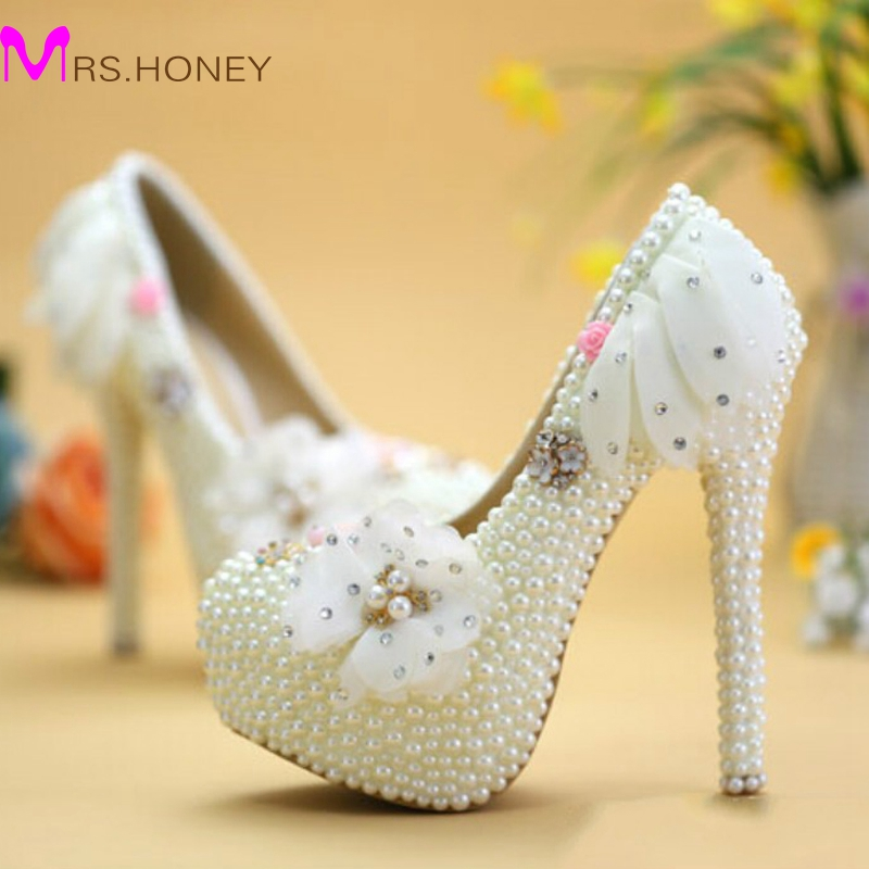 2016 Unique Designer Wedding Shoes Pink Lace High Heel Bridal Dress Shoes Lady Party Shoes Big Size Prom Party Event Pumps