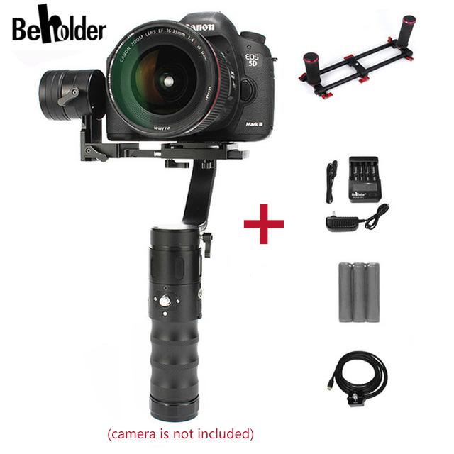 EM Estoque!!! quem vê ec1 3-axis handheld cardan câmera de 360 graus para a7s canon 6d/5d/7d & câmeras dslr vs beholder ds1
