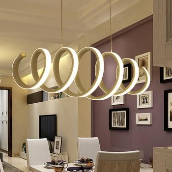 LED シャンデリア現代ミニマリスト創造的人格アートリビングルームダイニングテーブルバーダイニングルームキッチン鉄レストランランプ -