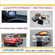 """Cámara Posterior del coche Inversa + 4.3 """"TFT LCD Monitor = 2 en 1 Sistema de Aparcamiento Para Nissan Juke/Infiniti ESQ"""