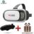 Caliente caja 2.0 ii vr vr gafas google cartón con auriculares gafas 3d de realidad virtual de vídeo juego casco + bluetooth controlador 5