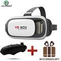Hot caixa de 2.0 ii vr vr óculos google papelão com fone de ouvido óculos de realidade virtual 3d jogo de vídeo capacete + bluetooth controlador 5