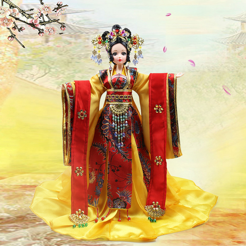 Fortune Days East Charm ancient costume doll 1/6 like BJD Blyth dolls Dou Yi Fang 35cm with makeup High Quality gift toys fortune days east charm costume doll 1 6 like bjd blyth dolls hu wan 3d original eye with makeup high quality gift toy