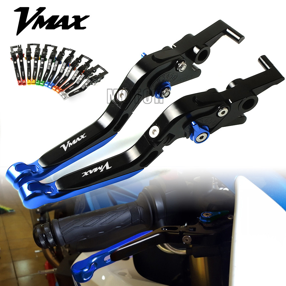 For Yamaha V MAX VMAX1200 VMAX1700 Motorcycle CNC Aluminum Brake Clutch Lever Adjustable Folding Extendable VMAX
