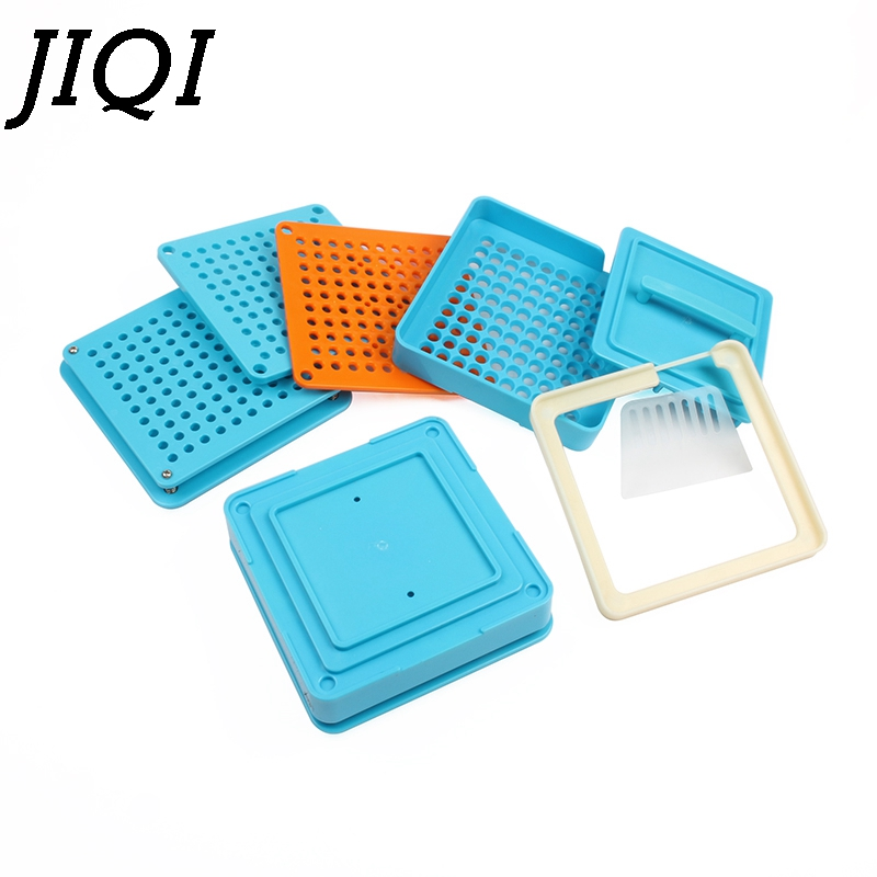 JIQI 100 Holes Manual Capsule Filling Machine #1 Pharmaceutical Capsules Maker For DIY Medicine Herbal Pill Powder Filler Size