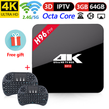 H96 Pro TV Box Android 7.1 Amlogic S912 Octa Core TV BOX 4 K Streaming 3 GB 64GB Media Player 4 K 3D HD WIFI vsSmart TV BOX