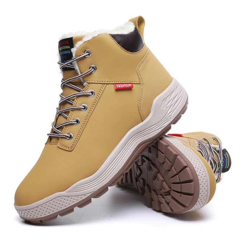 גברים חורף אתחול נעלי קטיפה חם שלג מגפי גברים בתוספת גודל גברים של נעלי ספורט מקרית Botas Hombre זכר קרסול מגפי 39-48 גודל