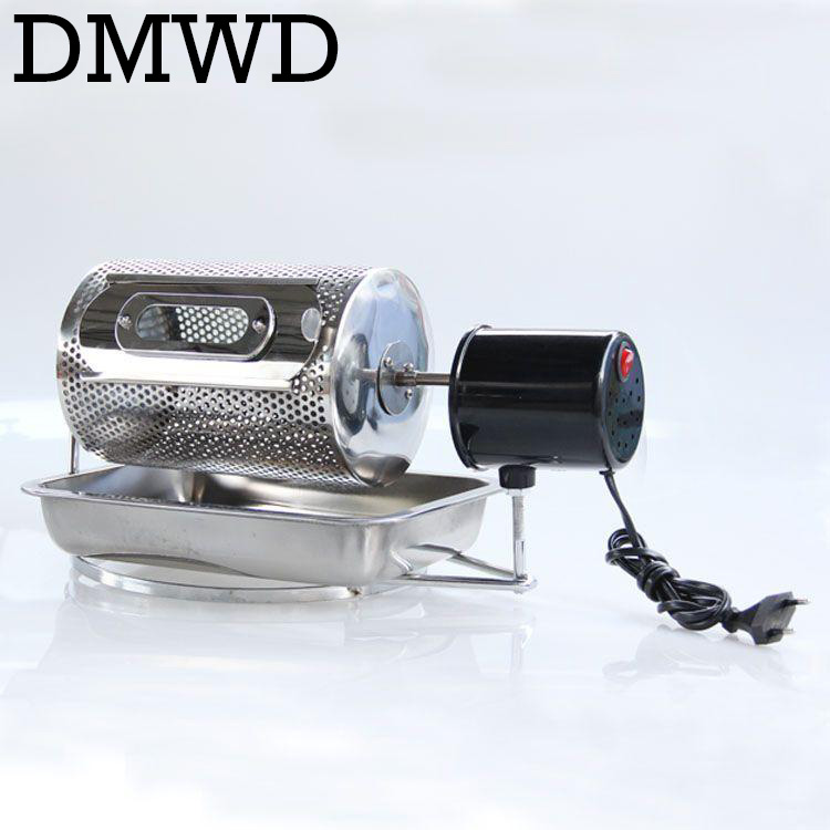 DMWD Home use coffee bean roaster machine stainless steel beans roasting peanuts nuts 110V 220V 40w EU US BS plug