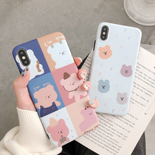 Pretty bear case for iphone 6 6splus 7 8 plus cute bare back xs max xr x 10 silicone soft matte phone cases