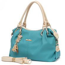 DOODOO Fashion Women's Handbags PU Leather Shoulder Bags High Quality Simple Female Tote Exquisite Hardware Women Bag 7 color
