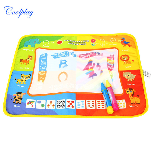 Water Doodle Mat & 2 Magic Pens Educational Toys Drawing Carpet ...