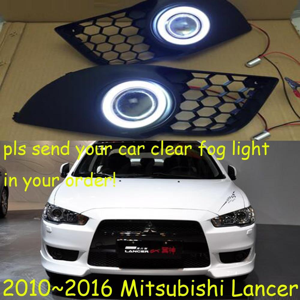 Mitsubish для Лансер противотуманные фары,2013~свободный корабль 2016!Лансер дневного света,2шт/комплект+провод включения/выключения:галоген/Ксеноновые лампы+балласт,Lancer бывших