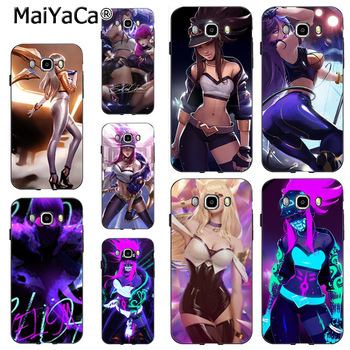 MaiYaCa LOL KDA Unique Luxury Hard plastic phone case for samsung J510 j1 j3 j7 note 3 note4 note5 case coque