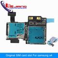 Original New For Samsung Galaxy S4 i9500 i9505 Sim Card Holder Micro SD Memory Socket Slot Tray Flex Cable