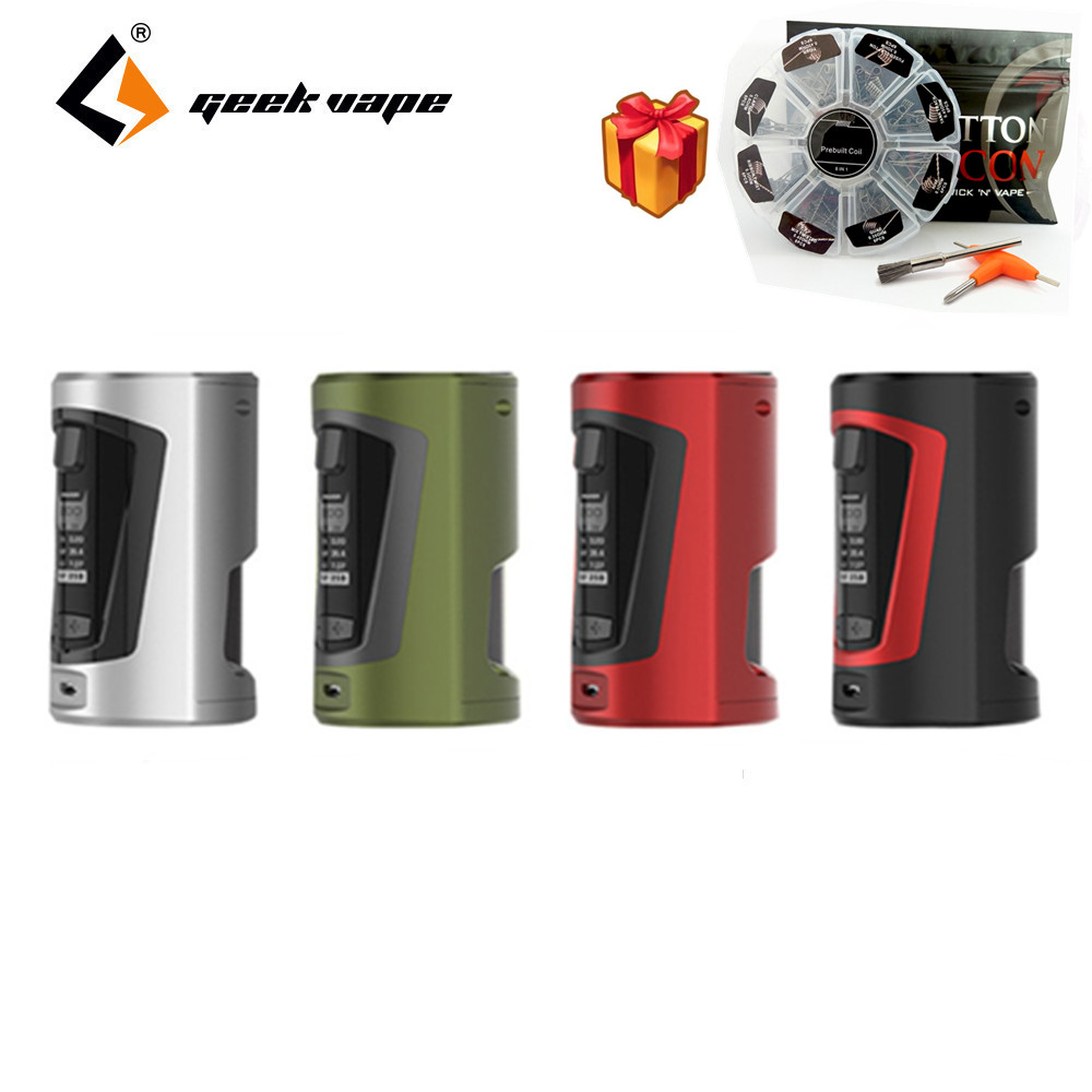 Electronic Cigarette Original Geekvape GBOX Squonker 200W TC MOD with 8ml silicone Squeeze Bottle with 8 in 1 DIY Coils Bacon geekvape gbox squonker 200w tc mod w as chipset
