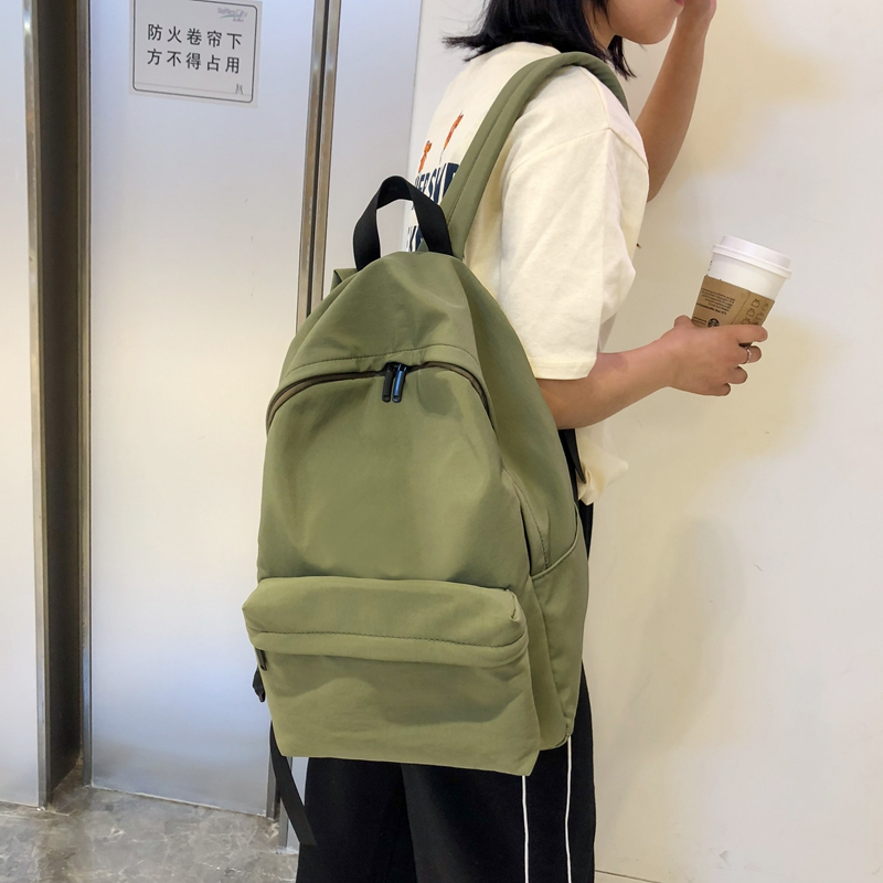 DCIMOR New Waterproof Nylon Women Backpack Large Capacity Travel Bag Pure-color Schoolbag For Teenagers Female Preppy Mochila