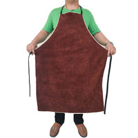 Welding Apron Heat Insulation A Whole Piece of Cow Leather Protective Aprons Flame Resistant Welders Workplace Safety Clothing