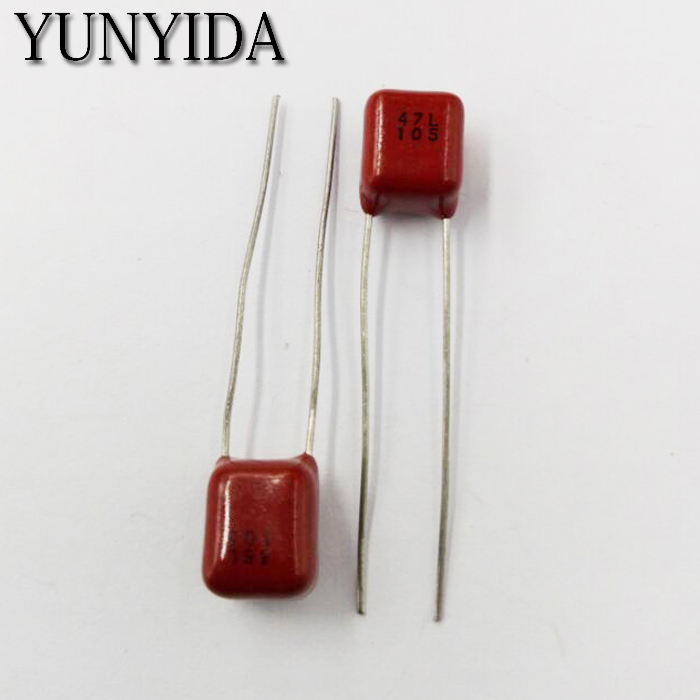 Free Shipping 10pcs CBB Polypropylene Film Capacitor Pitch 5mm 63V 105J  684J  474J 104J  1UF  0.68UF 0.47UF 0.1UF